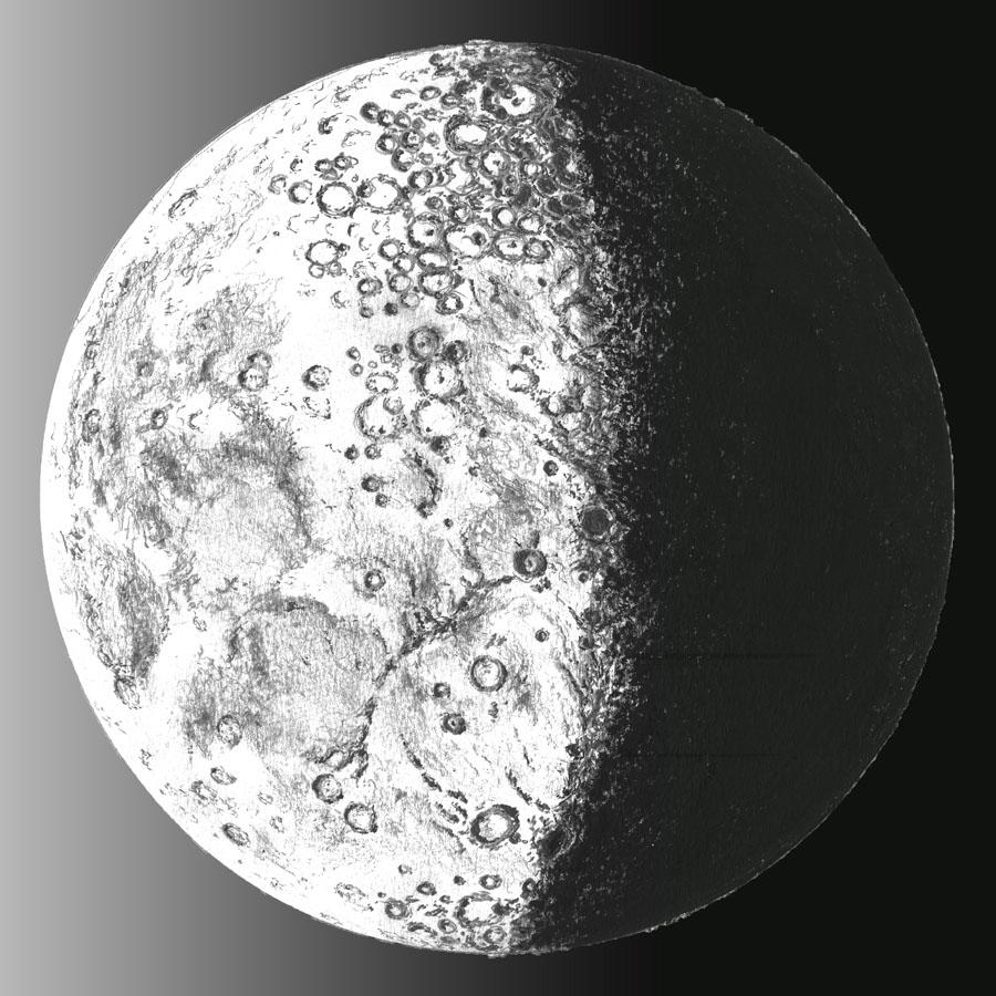 Lune graphit e et saturne aqueuse forums d 39 astronomie - Dessin de lune ...